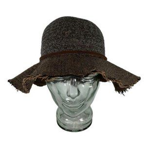 Four Buttons By San Diego Hat Co Brown Herringbone